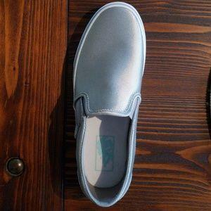 Vans Shoes - 8.5 Women's Metallic Silver Vans
